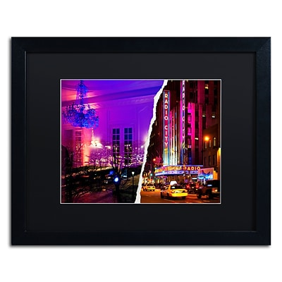 Trademark Fine Art City Dreams by Philippe Hugonnard 16 x 20 Black Matted Black Frame (PH0112-B1620BMF)