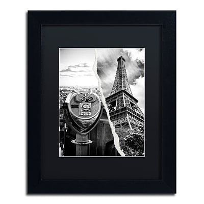 Trademark Fine Art Looking Away by Philippe Hugonnard 11 x 14 Black Matted Black Frame (PH0113-B1114BMF)