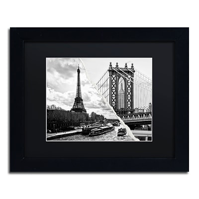 Trademark Fine Art Crossing the River by Philippe Hugonnard 11 x 14 Black Matted Black Frame (PH0115-B1114BMF)