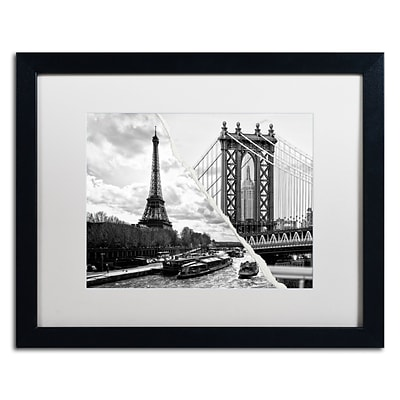Trademark Fine Art Crossing the River by Philippe Hugonnard 16 x 20 White Matted Black Frame (PH0115-B1620MF)