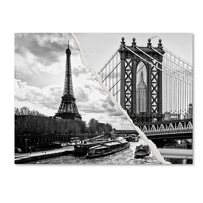 Trademark Fine Art Crossing the River by Philippe Hugonnard 35 x 47 Canvas Art (PH0115-C3547GG)