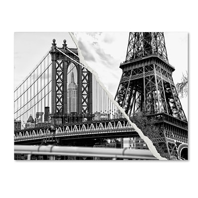 Trademark Fine Art The Tower and the Bridge by Philippe Hugonnard 18 x 24 Canvas Art (PH0116-C1824GG)