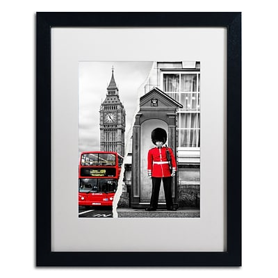 Trademark Fine Art Look at London by Philippe Hugonnard 16 x 20 White Matted Black Frame (PH0122-B1620MF)