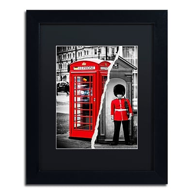 Trademark Fine Art Red by Philippe Hugonnard 11 x 14 Black Matted Black Frame (PH0123-B1114BMF)