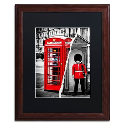 Trademark Fine Art Red by Philippe Hugonnard 16 x 20 Black Matted Wood Frame (PH0123-W1620BMF)