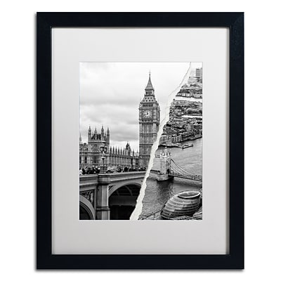 Trademark Fine Art City of London by Philippe Hugonnard 16 x 20 White Matted Black Frame (PH0124-B1620MF)