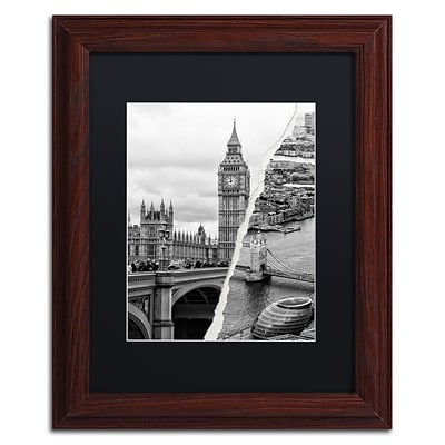 Trademark Fine Art City of London by Philippe Hugonnard 11 x 14 Black Matted Wood Frame (PH0124-W1114BMF)