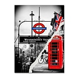 Trademark Fine Art Westminster Station by Philippe Hugonnard 14 x 19 Canvas Art (PH0125-C1419G