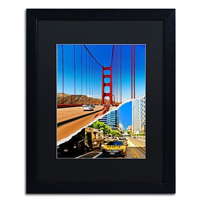 Trademark Fine Art San Francisco Travel by Philippe Hugonnard 16 x 20 Black Matted Black Frame (PH0131-B1620BMF)