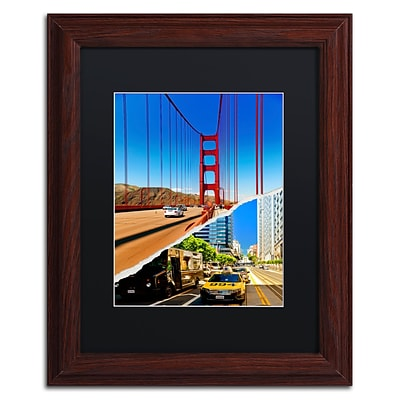 Trademark Fine Art San Francisco Travel by Philippe Hugonnard 11 x 14 Black Matted Wood Frame (PH0131-W1114BMF)