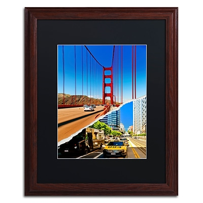 Trademark Fine Art San Francisco Travel by Philippe Hugonnard 16 x 20 Black Matted Wood Frame (PH0131-W1620BMF)
