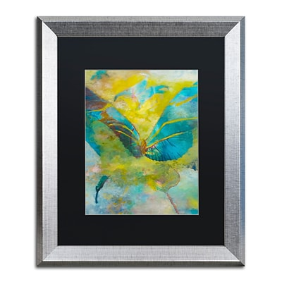 Trademark Fine Art Butterflight by Rickey Lewis 16 x 20 Black Matted Silver Frame (RL003-S1620BMF)