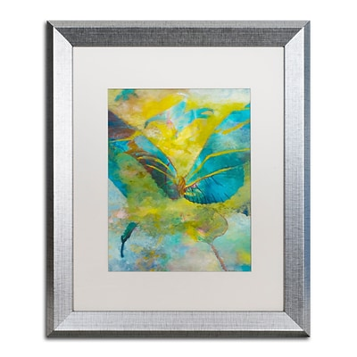 Trademark Fine Art Butterflight by Rickey Lewis 16 x 20 White Matted Silver Frame (RL003-S1620MF)
