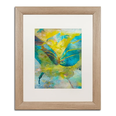 Trademark Fine Art Butterflight by Rickey Lewis 16 x 20 White Matted Wood Frame (RL003-T1620MF)