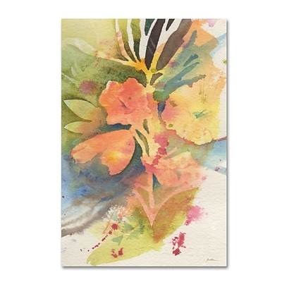 Trademark Fine Art Sunlight Blossoming by Sheila Golden 16 x 24 Canvas Art (SG5737-C1624GG)