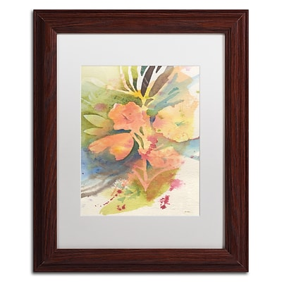 Trademark Fine Art Sunlight Blossoming by Sheila Golden 11 x 14 White Matted Wood Frame (SG5737-W1114MF)