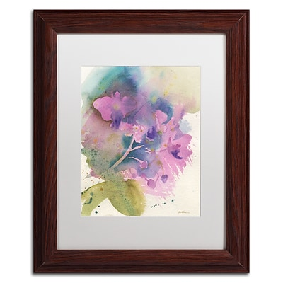 Trademark Fine Art Orchid Dream by Sheila Golden 11 x 14 White Matted Wood Frame (SG5738-W1114MF)
