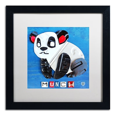 Trademark Fine Art Munch the Panda by Design Turnpike 16 x 16 White Matted Black Frame (ALI1262-B1616MF)