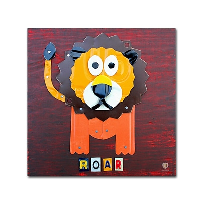 Trademark Fine Art Roar The Lion by Design Turnpike 35 x 35 Canvas Art (ALI1281-C3535GG)