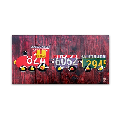 Trademark Fine Art Choo Choo by Design Turnpike 24 x 47 Canvas Art (ALI1293-C2447GG)