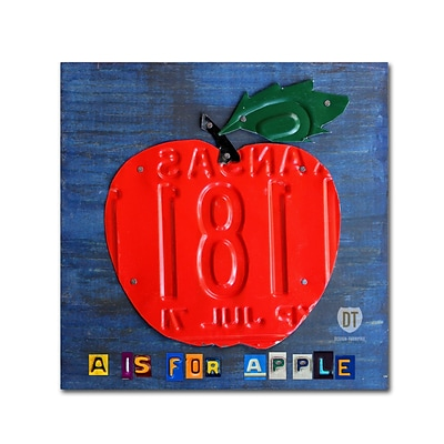 Trademark Fine Art Apple by Design Turnpike 35 x 35 Canvas Art (ALI1297-C3535GG)