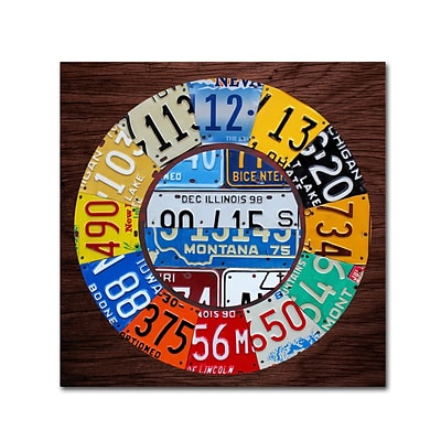 Trademark Fine Art Clock Square by Design Turnpike 18 x 18 Canvas Art (ALI1312-C1818GG)