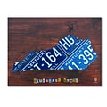 Trademark Fine Art Kentucky License Plate Map by Design Turnpike 14 x 19 Canvas Art (ALI1314-C