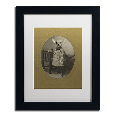 Trademark Fine Art Dog Series #3 by J Hovenstine Studios 11 x 14 White Matted Black Frame (ALI1334-B1114MF)