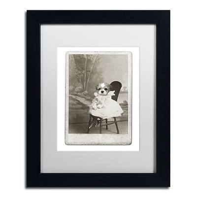 Trademark Fine Art Dog Series #5 by J Hovenstine Studios 11 x 14 White Matted Black Frame (ALI1336-B1114MF)