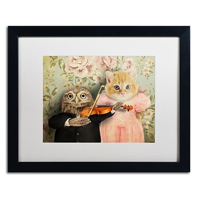 Trademark Fine Art The Owl And The Pussycat by J Hovenstine Studios 16 x 20 White Matted Black Frame (ALI1366-B1620MF)