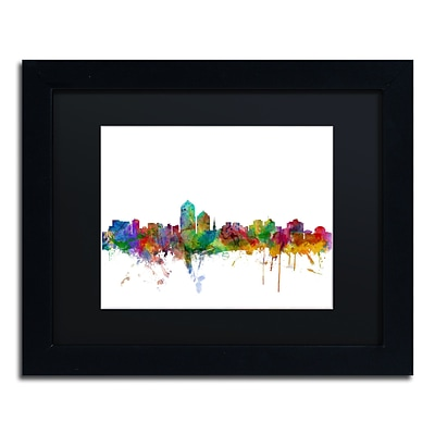 Trademark Fine Art Albuquerque New Mexico Skyline by Michael Tompsett 11 x 14 Black Frame (MT0592-B1114BMF)