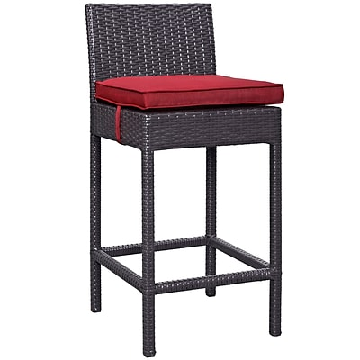 Modway Lift 27.5H Barstool, Espresso/Red (EEI-1006-EXP-RED)
