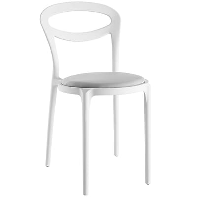 Modway Assist Fabric Side Chair, White Gray (EEI-1772-WHI-GRY)