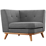 Modway Engage 39.5 Fabric Corner Sofa Gray