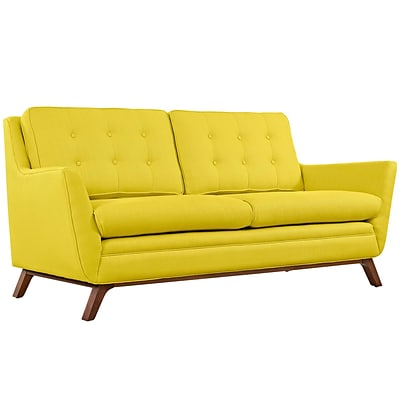 Modway Beguile 71.5W Fabric Loveseat, Yellow (EEI-1799-SUN)