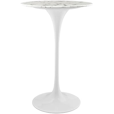 Modway 28L Artificial Marble Dining Table; White (EEI-1827-WHI)