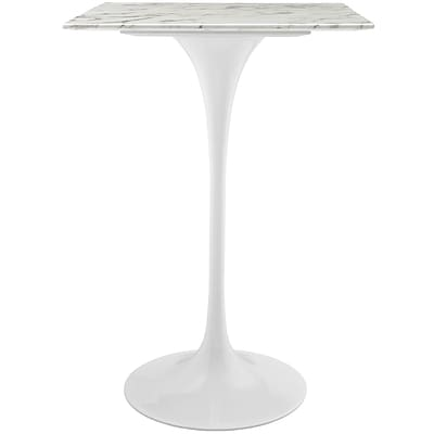 Modway 28L Artificial Marble Dining Table; White (EEI-1828-WHI)