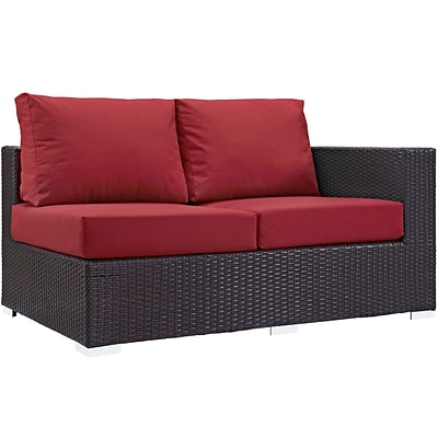 Modway Convene Outdoor Patio Right-Arm Loveseat (EEI-1841-EXP-RED)