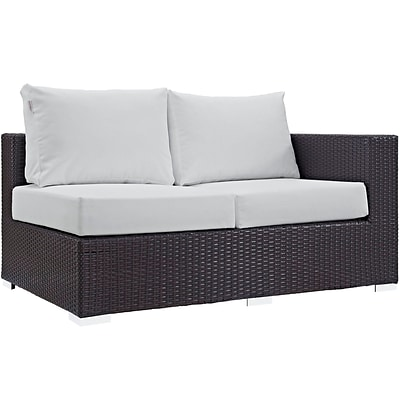Modway Convene Outdoor Patio Right-Arm Loveseat (EEI-1841-EXP-WHI)