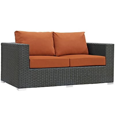 Modway Sojourn Outdoor Patio Loveseat (EEI-1851-CHC-TUS)