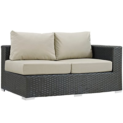 Modway Sojourn Outdoor Patio Right-Arm Loveseat (EEI-1857-CHC-BEI)