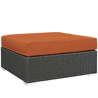 Modway Sojourn Outdoor Patio Square Ottoman (EEI-1861-CHC-TUS)