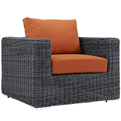 Modway Summon 39W Outdoor Patio Armchair with Fabric Cushions, Orange (EEI-1864-GRY-TUS)