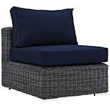 Modway Summon 36 Fabric Armless, Sunbrella Canvas Navy (EEI-1868-GRY-NAV)