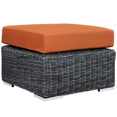Modway Summon Outdoor Patio Ottoman (EEI-1869-GRY-TUS)