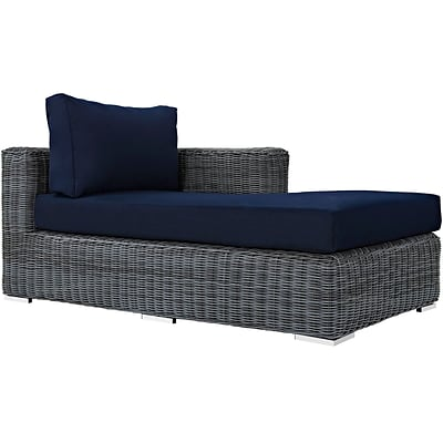 Modway Summon Outdoor Patio Right-Arm Chaise (EEI-1873-GRY-NAV)