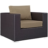 Modway Convene 37.5W Outdoor Patio Armchair with Fabric Cushions, Brown (EEI-1906-EXP-MOC)