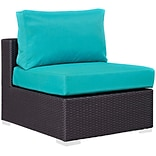 Convene 28.5 Armless Chair w/Cushion Green