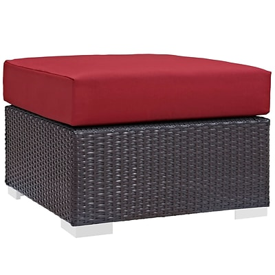 Modway Convene Outdoor Patio Ottoman; Espresso Red (EEI-1911-EXP-RED)
