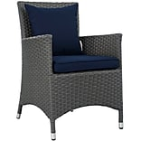 Modway Sojourn Outdoor Patio Armchair, Sunbrella Canvas Navy (EEI-1924-CHC-NAV)